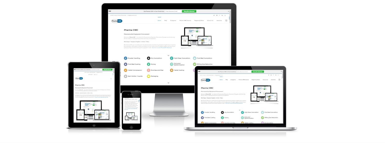 pharma cmc responsive website design
